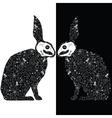 Black rabbits vector image vector image