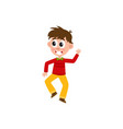 boy dancing at party vector image vector image