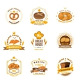 Bread Bakery Emblems Flat Icons Set vector image vector image