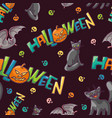 bright seamless pattern to all saints day vector image