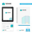 building business logo tab app diary pvc employee vector image