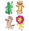 cartoon forest animals set set vector image