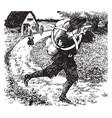 christian fleeing vintage vector image vector image