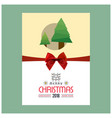 christmas card design with elegant design with vector image vector image