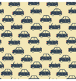 city car pattern blue vector image vector image