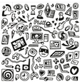 computer games - doodles set vector image