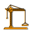 construction crane icon image vector image vector image