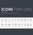 creative process thin line icons vector image