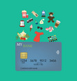 credit card shopping vector image vector image