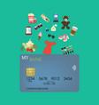 credit card shopping vector image