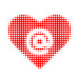 dating heart address halftone dotted icon vector image vector image