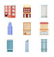 design facade and building symbol vector image