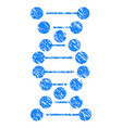 dna grunge icon vector image vector image