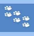 dog paw icon isometric template for web design vector image vector image