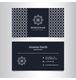 elegant business card template vector image