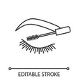 eyelash mascara linear icon vector image vector image