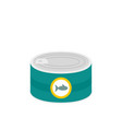 fish tin can icon flat style vector image