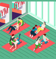fitness trainers isometric background vector image vector image