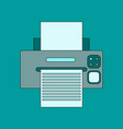 flat icon on background printer vector image vector image