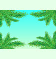 frame fir branches vector image vector image