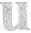 Freehand Typography Letter u vector image vector image
