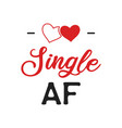 funny sarcastic valentines day typography logo vector image