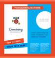 globe company brochure template busienss template vector image vector image