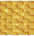 golden honeycomb texture vector image vector image