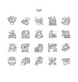 huge lottery win thin line icons vector image