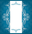 Invitation card with filigree ornaments vector image vector image