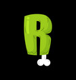 letter r zombie font monster alphabet bones vector image vector image