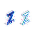 letters z with social networks elements vector image vector image