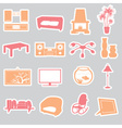 living room stickers set eps10 vector image vector image