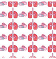 lungs organ with pills treatment background vector image