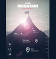 mountain peak infographic vector image vector image