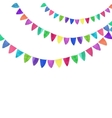 Multicolored bright buntings garlands Watercolor vector image