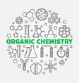 organic chemistry round in vector image vector image
