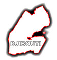 outline map of djibouti vector image vector image