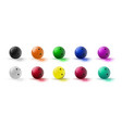 red and multicolor bowling ball isolated on vector image vector image