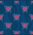 seamless pattern turtles australian art
