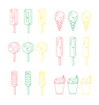 set of emotional ice-creams vector image