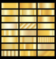 set of gold gradients vector image vector image