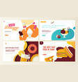 set web page design templates for food vector image vector image