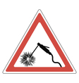 sign attention welding vector image
