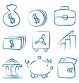 sketch money icons vector image
