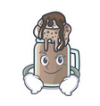 smirking milkshake character cartoon style vector image vector image