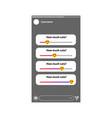 social media slider polls interface template vector image