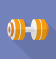 Sport dumbbell icon Modern Flat style with a long vector image vector image