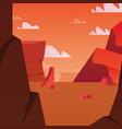 sunset landscape design vector image vector image