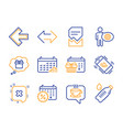 sync calendar discounts and corrupted file icons vector image vector image